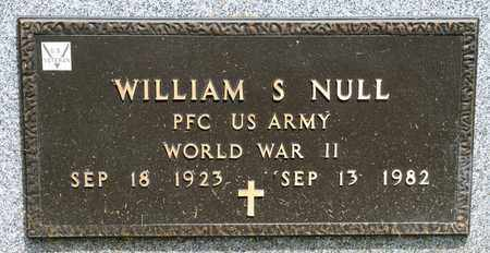 NULL, WILLIAM S - Richland County, Ohio | WILLIAM S NULL - Ohio Gravestone Photos