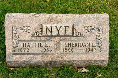 NYE, SHERIDAN L - Richland County, Ohio | SHERIDAN L NYE - Ohio Gravestone Photos
