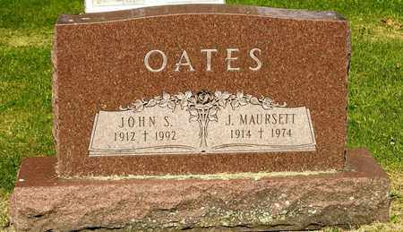 OATES, J MAURSETT - Richland County, Ohio | J MAURSETT OATES - Ohio Gravestone Photos