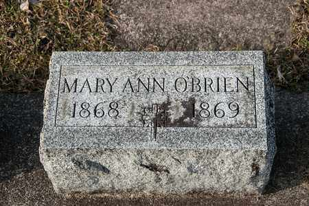 O'BRIEN, MARY ANN - Richland County, Ohio | MARY ANN O'BRIEN - Ohio Gravestone Photos