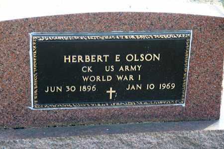 OLSON, HERBERT E - Richland County, Ohio | HERBERT E OLSON - Ohio Gravestone Photos