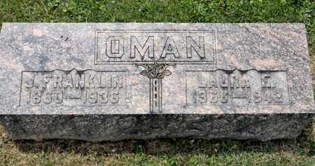 OMAN, LAURA E - Richland County, Ohio | LAURA E OMAN - Ohio Gravestone Photos