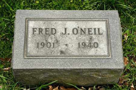O'NEIL, FRED J - Richland County, Ohio | FRED J O'NEIL - Ohio Gravestone Photos