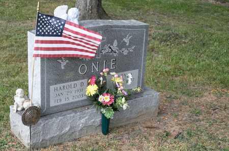 ONIE, HAROLD D - Richland County, Ohio | HAROLD D ONIE - Ohio Gravestone Photos