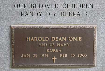 ONIE, HAROLD DEAN - Richland County, Ohio | HAROLD DEAN ONIE - Ohio Gravestone Photos