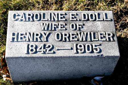 DOLL OREWILER, CAROLINE E - Richland County, Ohio | CAROLINE E DOLL OREWILER - Ohio Gravestone Photos