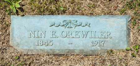 OREWILER, NIN E - Richland County, Ohio | NIN E OREWILER - Ohio Gravestone Photos