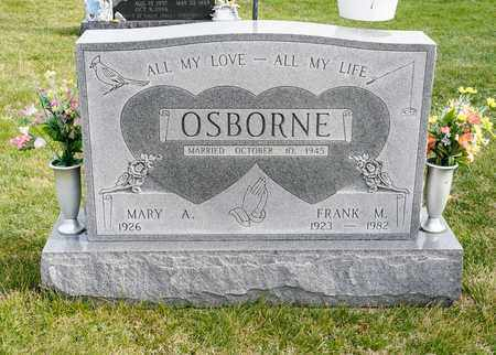 OSBORNE, FRANK M - Richland County, Ohio | FRANK M OSBORNE - Ohio Gravestone Photos