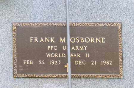 OSBORNE, FRANK M - Richland County, Ohio | FRANK M OSBORNE - Ohio Gravestone Photos