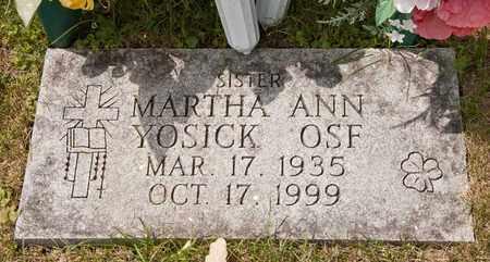 YOSICK OSF, MARTHA ANN - Richland County, Ohio | MARTHA ANN YOSICK OSF - Ohio Gravestone Photos