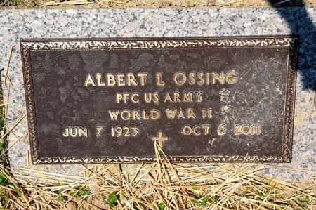 OSSING, ALBERT L - Richland County, Ohio | ALBERT L OSSING - Ohio Gravestone Photos