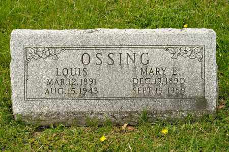 OSSING, MARY E - Richland County, Ohio | MARY E OSSING - Ohio Gravestone Photos