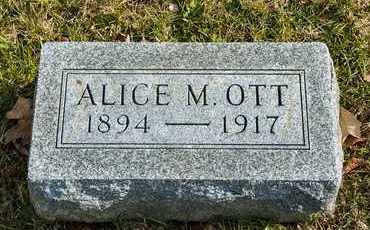OTT, ALICE M - Richland County, Ohio | ALICE M OTT - Ohio Gravestone Photos