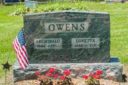 OWENS, ARCHIBALD - Richland County, Ohio | ARCHIBALD OWENS - Ohio Gravestone Photos