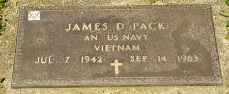 PACK, JAMES D - Richland County, Ohio | JAMES D PACK - Ohio Gravestone Photos