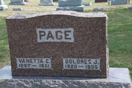 PAGE, VANETTA C - Richland County, Ohio | VANETTA C PAGE - Ohio Gravestone Photos