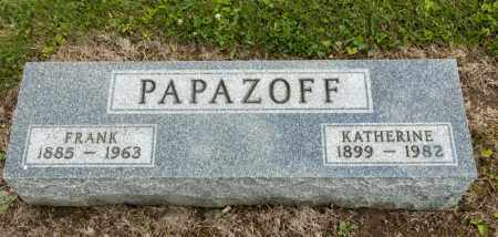 PAPAZOFF, FRANK - Richland County, Ohio | FRANK PAPAZOFF - Ohio Gravestone Photos