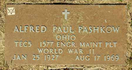 PASHKOW, ALFRED PAUL - Richland County, Ohio | ALFRED PAUL PASHKOW - Ohio Gravestone Photos