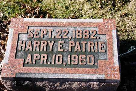 PATRIE, HARRY E - Richland County, Ohio | HARRY E PATRIE - Ohio Gravestone Photos