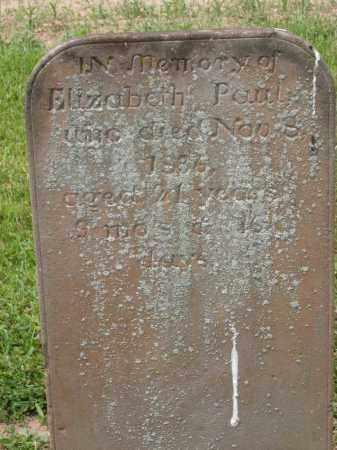 PAUL, ELIZABETH - Richland County, Ohio | ELIZABETH PAUL - Ohio Gravestone Photos