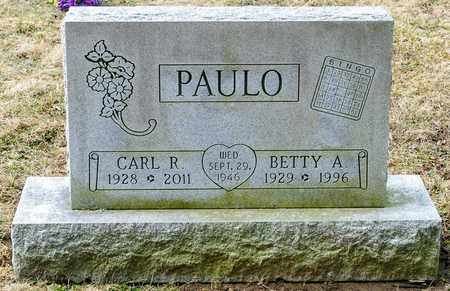 PAULO, CARL R - Richland County, Ohio | CARL R PAULO - Ohio Gravestone Photos