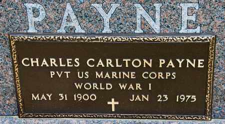 PAYNE, CHARLES CARLTON - Richland County, Ohio | CHARLES CARLTON PAYNE - Ohio Gravestone Photos