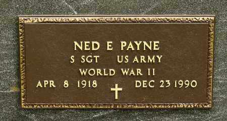 PAYNE, NED E - Richland County, Ohio | NED E PAYNE - Ohio Gravestone Photos