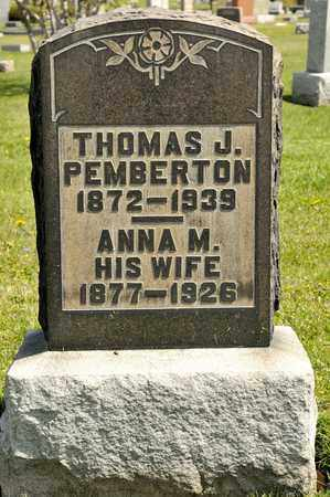 PEMBERTON, THOMAS J - Richland County, Ohio | THOMAS J PEMBERTON - Ohio Gravestone Photos