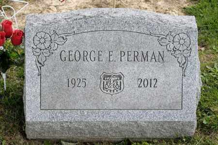 PERMAN, GEORGE E - Richland County, Ohio | GEORGE E PERMAN - Ohio Gravestone Photos