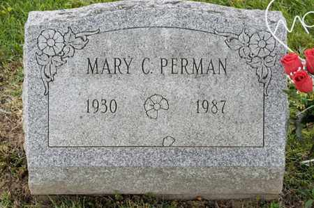 PERMAN, MARY C - Richland County, Ohio | MARY C PERMAN - Ohio Gravestone Photos