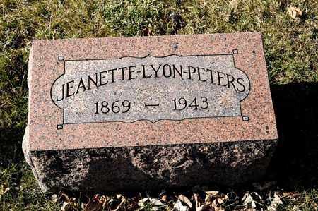 PETERS, JEANETTE - Richland County, Ohio | JEANETTE PETERS - Ohio Gravestone Photos