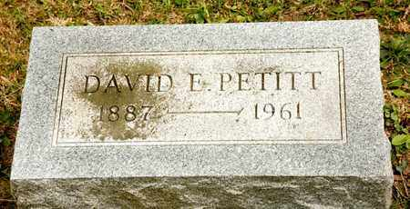 PETITT, DAVID E - Richland County, Ohio | DAVID E PETITT - Ohio Gravestone Photos