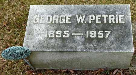 PETRIE, GEORGE W - Richland County, Ohio | GEORGE W PETRIE - Ohio Gravestone Photos