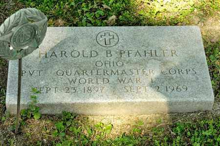 PFAHLER, HAROLD B - Richland County, Ohio | HAROLD B PFAHLER - Ohio Gravestone Photos