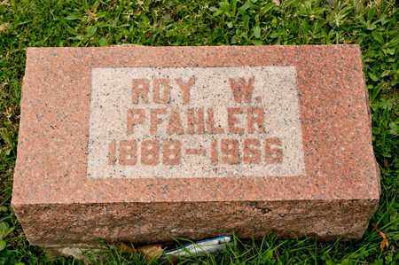 PFAHLER, ROY W - Richland County, Ohio | ROY W PFAHLER - Ohio Gravestone Photos