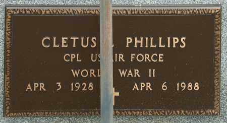 PHILLIPS, CLETUS L - Richland County, Ohio | CLETUS L PHILLIPS - Ohio Gravestone Photos