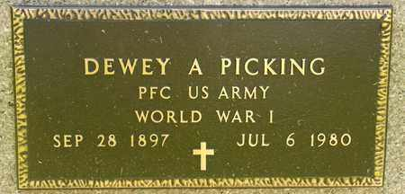 PICKING, DEWEY A - Richland County, Ohio | DEWEY A PICKING - Ohio Gravestone Photos
