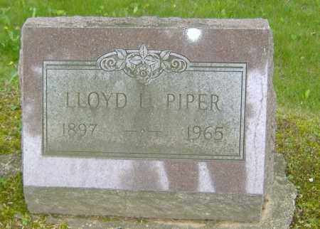 PIPER, LLOYD LOWELL - Richland County, Ohio | LLOYD LOWELL PIPER - Ohio Gravestone Photos