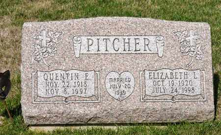 PITCHER, QUENTIN E - Richland County, Ohio | QUENTIN E PITCHER - Ohio Gravestone Photos