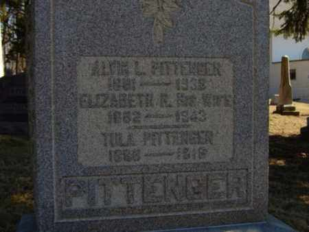 PITTENGER, ELIZABETH R - Richland County, Ohio | ELIZABETH R PITTENGER - Ohio Gravestone Photos