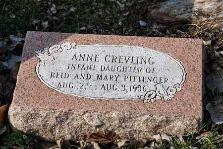 PITTENGER, ANNE CREVILING - Richland County, Ohio | ANNE CREVILING PITTENGER - Ohio Gravestone Photos