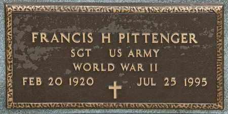 PITTENGER, FRANCIS H - Richland County, Ohio   FRANCIS H PITTENGER - Ohio Gravestone Photos