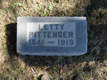PITTENGER, LETTY - Richland County, Ohio | LETTY PITTENGER - Ohio Gravestone Photos