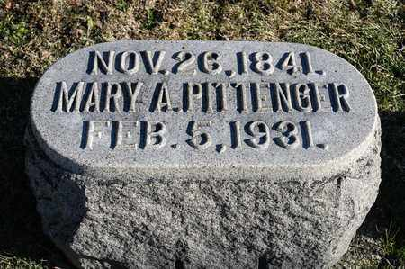 PITTENGER, MARY A - Richland County, Ohio | MARY A PITTENGER - Ohio Gravestone Photos