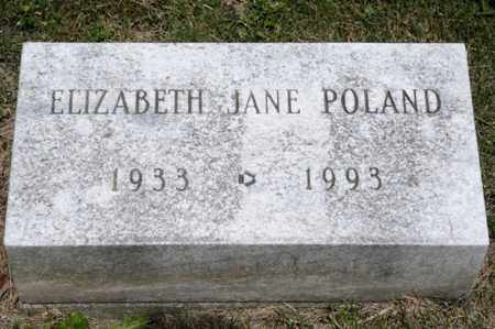 POLAND, ELIZABETH JANE - Richland County, Ohio | ELIZABETH JANE POLAND - Ohio Gravestone Photos