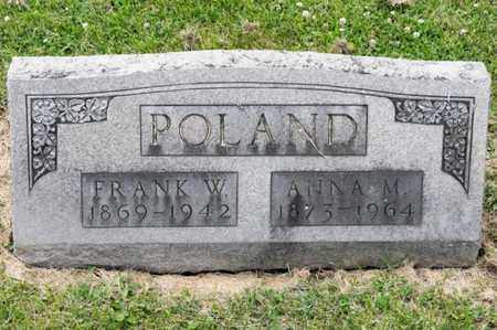 POLAND, FRANK W - Richland County, Ohio | FRANK W POLAND - Ohio Gravestone Photos