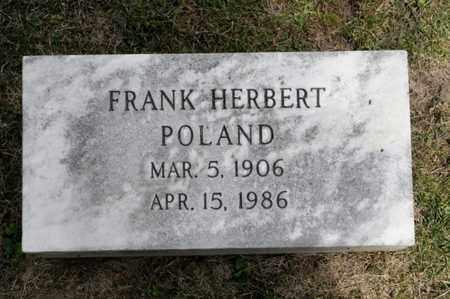 POLAND, FRANK HERBERT - Richland County, Ohio | FRANK HERBERT POLAND - Ohio Gravestone Photos