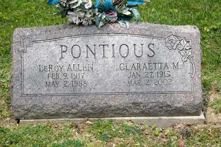 PONTIOUS, CLARAETTA M - Richland County, Ohio | CLARAETTA M PONTIOUS - Ohio Gravestone Photos