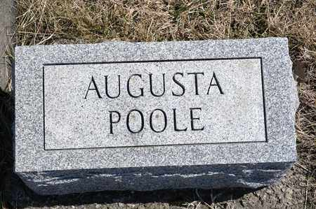 POOLE, AUGUSTA - Richland County, Ohio | AUGUSTA POOLE - Ohio Gravestone Photos