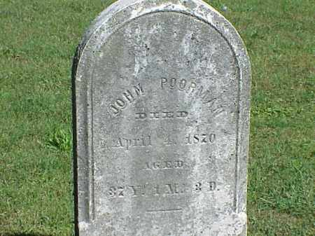 POORMAN, JOHN - Richland County, Ohio | JOHN POORMAN - Ohio Gravestone Photos